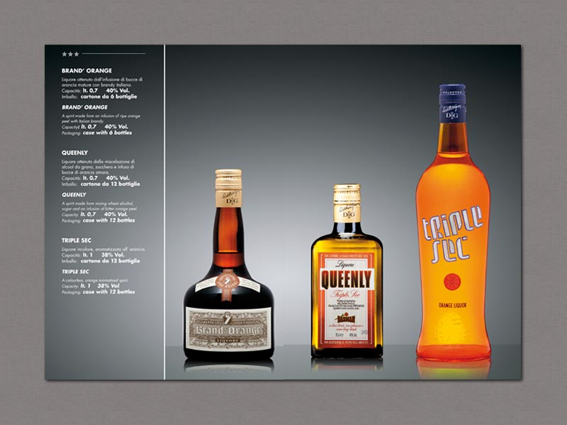 Interno catalogo prodotti Distillati Group